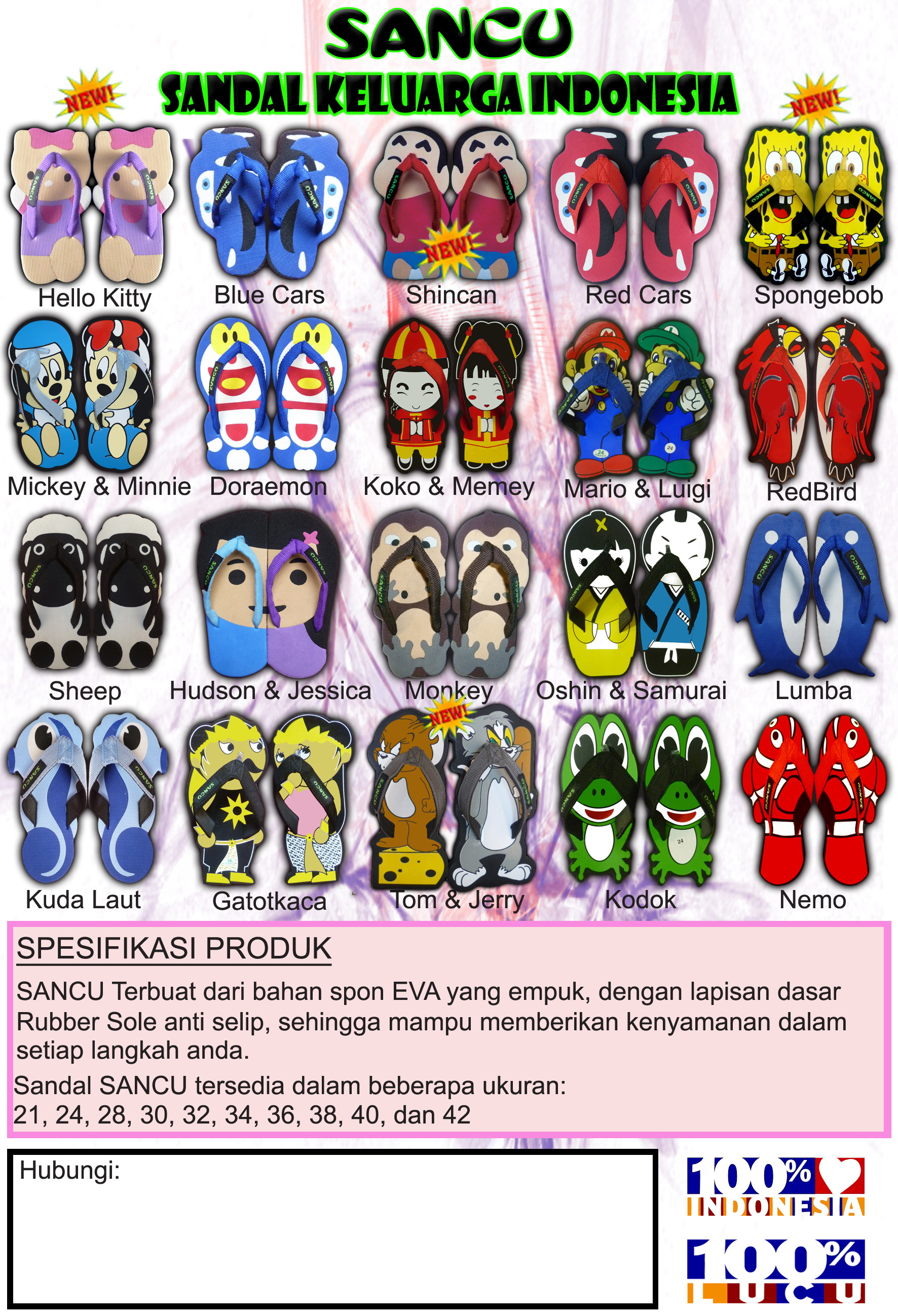 Hello Kitty Dicari Reseller Distributor Sandal Lucu SANCU